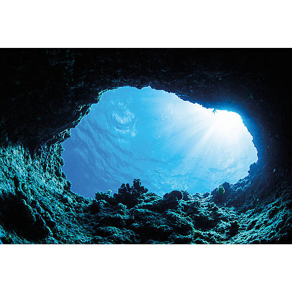 Top Fin® Cave & Ocean Floor Reversible Aquarium Background