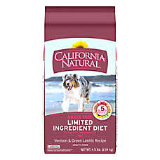 California Natural Limited Ingredient Diet Dog Food - Natural, Grain Free, Venison & Green Lentils
