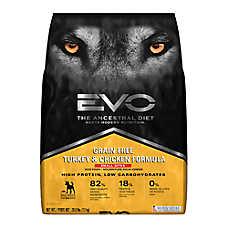 EVO Small Bites Adult Dog Food - Grain Free, Gluten Free, Turkey & Chicken