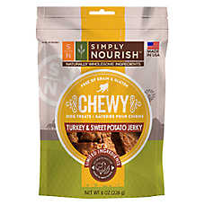 Simply Nourish™ Chewy Jerky Dog Treat - Natural, Grain Free, Turkey & Sweet Potato