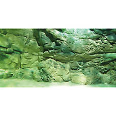 Top Fin® Rock Wall & Drift Wood Reversible Aquarium Background