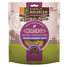 Simply Nourish™ Crunchy Dog Treat - Natural, Grain Free, Chicken & Blueberry