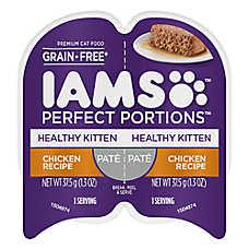 Iams® Perfect Portions Healthy Kitten Food - Grain Free, Chicken, Pate
