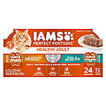 Iams® Perfect Portions Healthy Adult Cat Food - Grain Free, Multipack, Chicken & Tuna