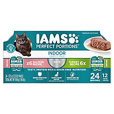 Iams® Perfect Portions Indoor Cat Food - Grain Free, Multipack, Salmon & Turkey