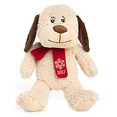 "PetSmart Holiday ""Chance"" the Dog Pet Toy - Plush, Squeaker"