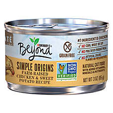 Purina® Beyond Simple Origins Cat Food - Natural, Grain Free, Chicken & Sweet Potato