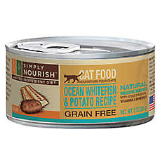 Simply Nourish™ Limited Ingredient Diet Cat Food - Natural, Grain Free, Ocean Whitefish & Pota