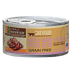 Simply Nourish™ Limited Ingredient Diet Cat Food - Natural, Grain Free, Duck & Sweet Potato