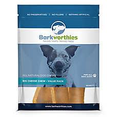Barkworthies Big Cheese Chew Dog Treat - Natural