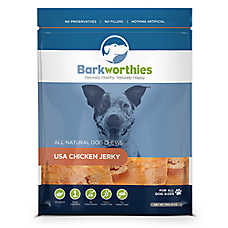 Barkworthies Chicken Jerky Dog Treat - Natural, Chicken