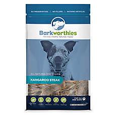 Barkworthies Kangaroo Steak Dog Treat - Natural, Kangaroo