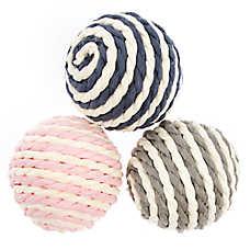 ED Ellen DeGeneres Striped Ball Cat Toys - 3 Pack