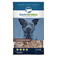 Barkworthies Lamb Lung Chips Dog Treat - Natural, Lamb