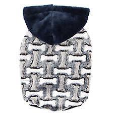 Top Paw® Dog Bone Print Fleece Pet Hoodie