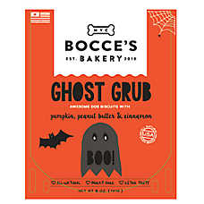 Bocce's Bakery Ghost Grub Dog Treat - Natural, Pumpkin, Peanut Butter & Cinnamon