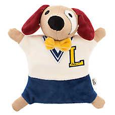 ED Ellen DeGeneres Varsity Dog Flattie Dog Toy - Crinkle, Plush