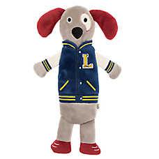 ED Ellen DeGeneres Varsity Jacket Dog Flattie Dog Toy - Crinkle