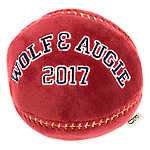 ED Ellen DeGeneres Varsity Ball Dog Toy - Plush, Squeaker
