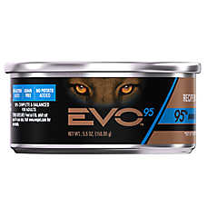 EVO 95 Adult Cat Food - Grain Free, Gluten Free, Duck, 24ct Case