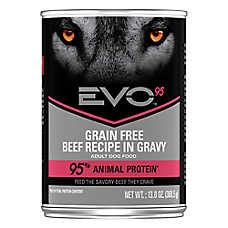 EVO 95 Adult Dog Food - Grain Free, Gluten Free, Beef, 12ct Case