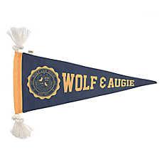 ED Ellen DeGeneres Wolf & Augie Banner Flattie Dog Toy - Crinkle, Rope