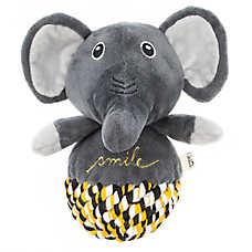ED Ellen DeGeneres Elephant with Rope Ball Body Dog Toy - Plush, Squeaker