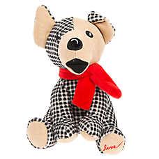 ED Ellen DeGeneres Plaid Augie Dog Toy - Plush, Squeaker