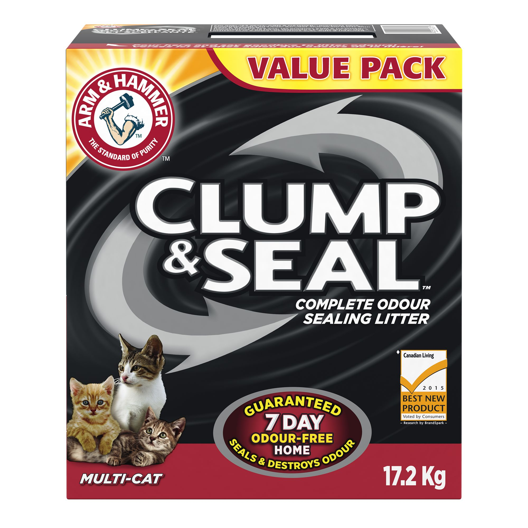 Arm & Hammer Clump & Seal Cat Litter - Clumping, Multi-Cat