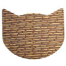 Whisker City® No-Track Foam Bamboo Cat Head Litter Mat