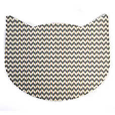 Whisker City® No-Track Foam Chevron Cat Head Litter Mat