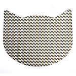 Whisker City® No-Track Foam Chevron Cat Head Litter Mat