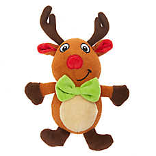 Pet Holiday™ Reindeer Dog Toy - Plush, Squeaker