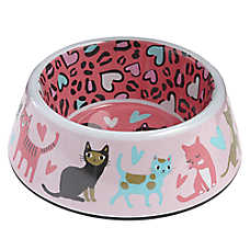 Whisker City® Cheetah Cat Bowl
