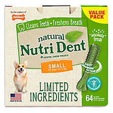 Nylabone® Nutri Dent Limited Ingredients Small Dog Dental Chew - Natural, Fresh Breath