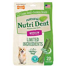Nylabone® Nutri Dent Limited Ingredients Medium Dog Dental Chew - Natural, Fresh Breath