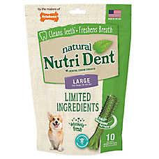 Nylabone® Nutri Dent Limited Ingredients Large Dog Dental Chew - Natural, Fresh Breath