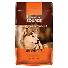 Simply Nourish™ Source Small Breed Adult Dog Food - Natural, Grain Free, Chicken