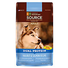 Simply Nourish™ SOURCE Dual Protein Adult Dog Food - Natural, Grain Free, Halibut & Salmon Rec