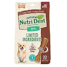 Nylabone® Nutri Dent Limited Ingredients Mini Dog Dental Chew - Natural, Filet Mignon Flavor