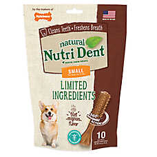 Nylabone® Nutri Dent Limited Ingredients Small Dog Dental Chew - Natural, Filet Mignon Flavor