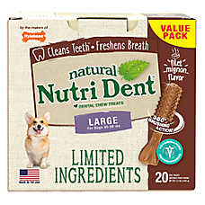 Nylabone® Nutri Dent Limited Ingredients Large Dog Dental Chew - Natural, Filet Mignon Flavor