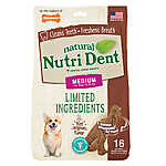 Nylabone® Nutri Dent Limited Ingredients T-Rex Medium Dog Dental Chew - Natural, Filet Mignon
