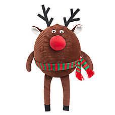 Pet Holiday™ Reindeer Ball Dog Toy - Plush
