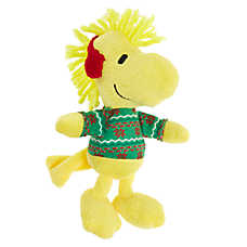 Peanuts® Holiday Woodstock Sweater Dog Toy - Plush, Squeaker