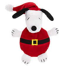 Peanuts® Holiday Snoopy Santa Flattie Dog Toy - Crinkle, Plush