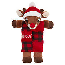 Rudolph® Holiday Mat Dog Toy - Plush, Squeaker