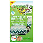 Bags on Board® Green Chevron Waste Pick Up Bag Dispenser