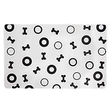 Grreat Choice® Dog Bones & Circles Pet Feeding Placemat