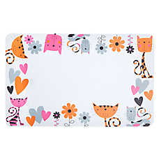 Whisker City® Hearts & Flowers Cat Placemat